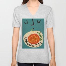 Yum Spaghetti Unisex V-Neck