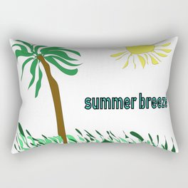 summer breeze minimal sketch Rectangular Pillow
