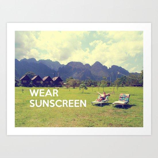 Wear Sunscreen Art Print