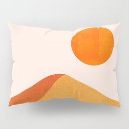 Abstraction_Mountains_SUN_Minimalism_01 Pillow Sham