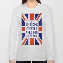 Vintage poster - Your King and Country Need You Long Sleeve T-shirt