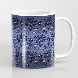 Owl Ghost and Cyclops Monster Pattern Art Coffee Mug