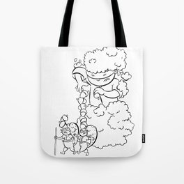 Ninja Master of Camouflage Tote Bag