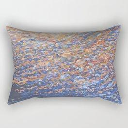Illuminated Ocean Waves at Sunset Rectangular Pillow
