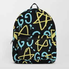 Yellow Stars And Gees G G Print Art Style S6 Hip Hop Backpack