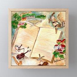 Books and imagination Framed Mini Art Print