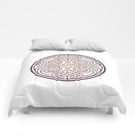 St. Patrick's Day Celtic Red Mandala #1 Comforters