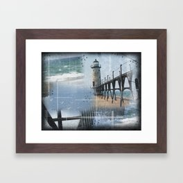 Manistee Lighthouse MI Framed Art Print