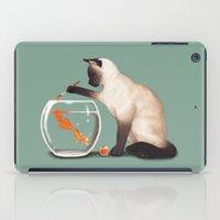ashton irwin iPad Cases featuring Goldfish need friend by Tummeow
