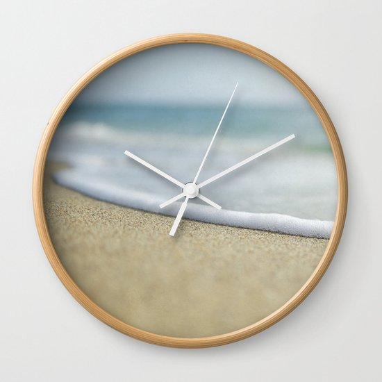 Sea Foam Beach Wall Clock