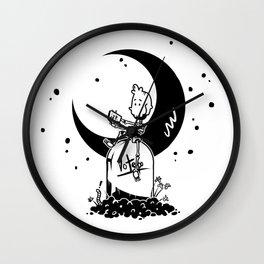 Night at Skull Wall Clock