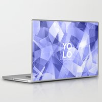 sayings Laptop & iPad Skins featuring Dreams of YOLO Vol.3 by HappyMelvin