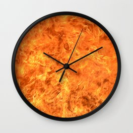 fire wall Wall Clock