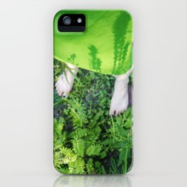 your shadows are growing on me iPhone Case