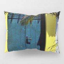 puerto rican blue door Pillow Sham