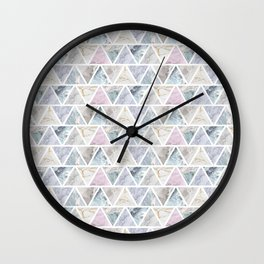 Marble Triangles Wall Clock