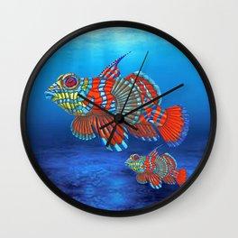 Mandy, the Mandarin Fish Wall Clock