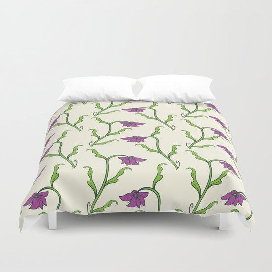 Purple Flower Pattern Duvet Cover