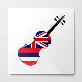 Hawaii State Fiddle Metal Print