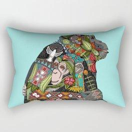 chimpanzee love sky Rectangular Pillow