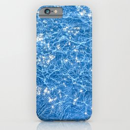 Poolside / Photo of sparkling blue water in bright sunlight iPhone Case
