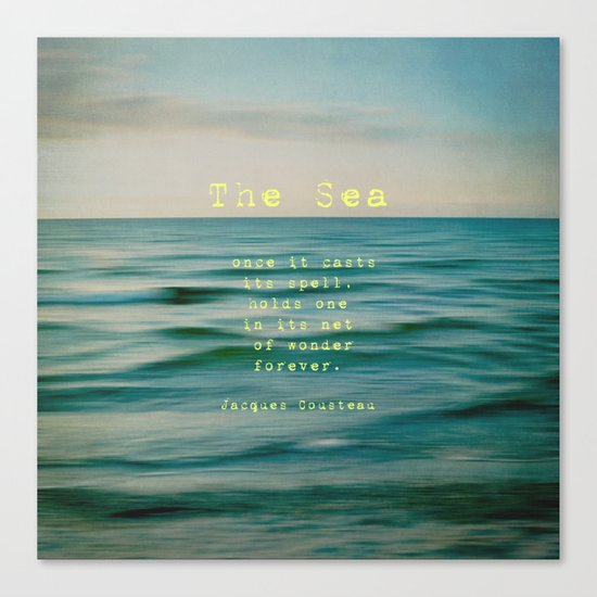 The Sea - typo Canvas Print