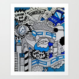 Livin' For The City Art Print