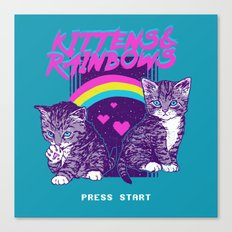 Kittens & Rainbows Canvas Print