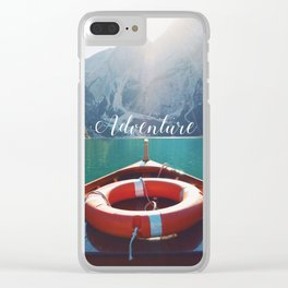Live the Adventure - Typography Clear iPhone Case
