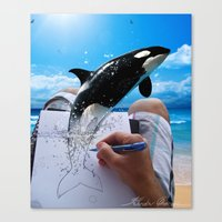 killer whale Canvas Prints featuring Killer Whale by Fahrudin