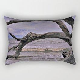 Drift Wood Beach 7 Rectangular Pillow