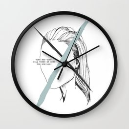 With Man Gone Wall Clock