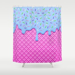 Psychedelic Ice Cream Shower Curtain