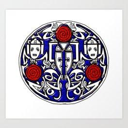 Celtic Cyberman brooch Art Print