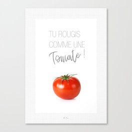 Affiche tomate Canvas Print