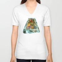 metallic V-neck T-shirts featuring Metallic by Vargamari