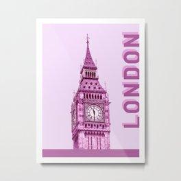 London City Travel Duotone Metal Print