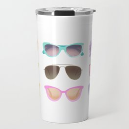 Colorful Sunglasses Travel Mug