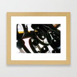 ironwork detail Framed Art Print