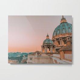 St. Peter's Basilica at Sunset Metal Print
