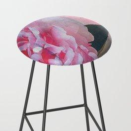 Pretty in Pink Peony Bar Stool