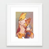 digimon Framed Art Prints featuring Digimon - Ruki & Rena by frolis