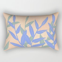 Peachy Leaves Rectangular Pillow