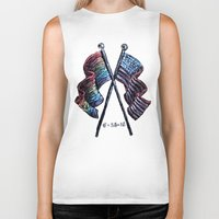 equality Biker Tanks featuring Equality by Pajamarai Illustrations