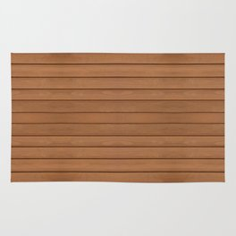 Brown toned boards texture abstract Rug