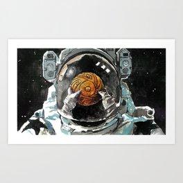 Black Star Deep Space Art Print