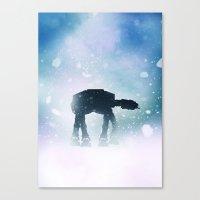 kieren walker Canvas Prints featuring Walker by Bakus