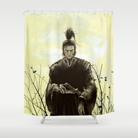 samurai Shower Curtains featuring Samurai by Tony Vazquez