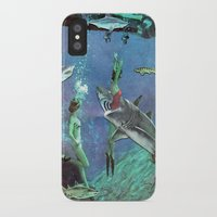 sharks iPhone & iPod Cases featuring Sharks by Ben Giles