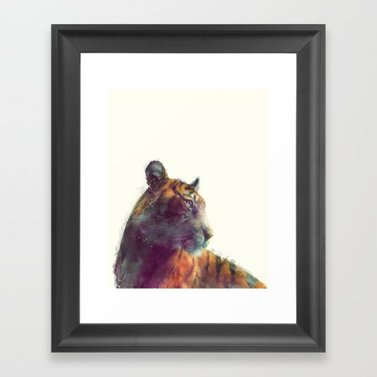 Tiger // Solace Framed Art Print